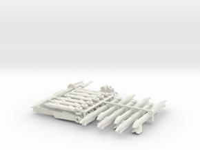 TF: BH Cyberverse Airachnid legs in White Natural Versatile Plastic