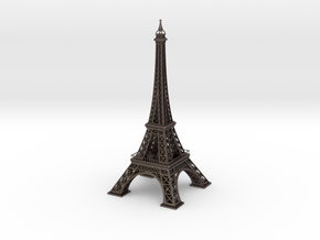 Eiffel Tower in Polished Bronzed Silver Steel