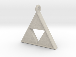 Triforce Pendant in Natural Sandstone