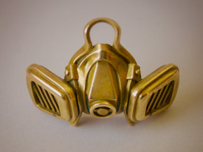 GasMask in Polished Bronze