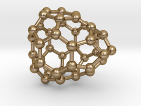 0242 Fullerene C42-21 c2v in Polished Gold Steel