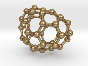 0243 Fullerene C42-22 cs in Polished Gold Steel