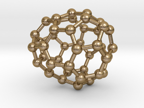 0245 Fullerene C42-24 c1 in Polished Gold Steel