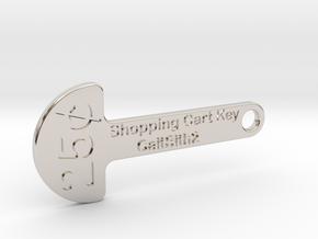 Quarter Shopping Cart Key in Platinum
