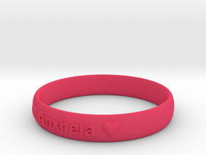 Bracelets 2 (Personalize as you wish) in Pink Processed Versatile Plastic