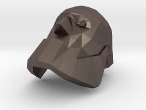 Bot Heavy Head in Polished Bronzed Silver Steel
