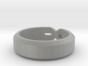 Size 7 Ring in Metallic Plastic