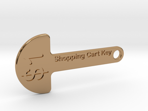 Loonie Shopping Cart Key in Polished Brass