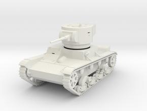 PV15A T26 Light Tank M1933 (28mm) in White Natural Versatile Plastic