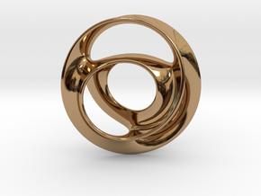 Vortex Pendant in Polished Brass