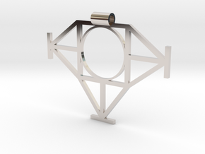 Geometric Pendant in Rhodium Plated Brass