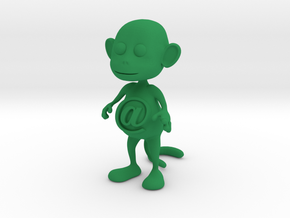 Tiny @Belly Monkey in Green Processed Versatile Plastic