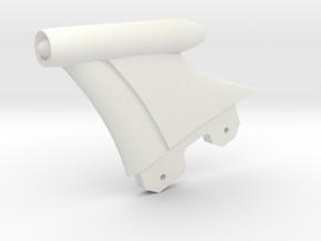Retro Raygun: Fin Assembly in White Natural Versatile Plastic