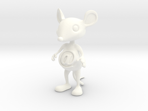 Tiny @Belly Mouse in White Processed Versatile Plastic