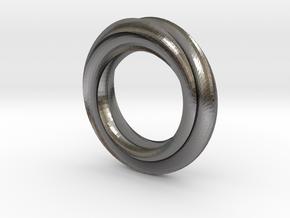 Helix Moebius in Polished Nickel Steel