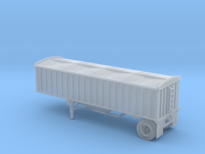 N-Scale CPS/Manac Pup Grain Trailer with Tarp in Frosted Extreme Detail