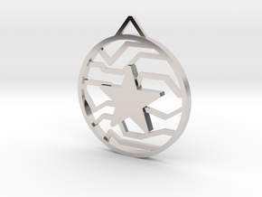 Winter Soldier Star Pendant (Small) in Rhodium Plated Brass