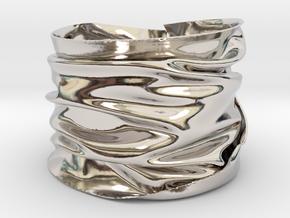 Drape Bracelet in Rhodium Plated Brass
