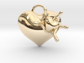 LoveSplash Custom 7 capital letters in 14K Yellow Gold
