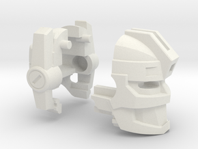 Fearsome Gust Head for Leader Jetfire (1 of 2) in White Natural Versatile Plastic