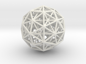 600-Cell, Orthographic projection in White Natural Versatile Plastic