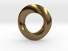 twisted moebius  in Polished Bronze