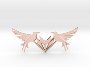 Swallow Collar Necklace in 14k Rose Gold Plated Brass: Small
