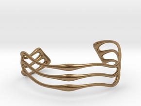 Bracelet Waves #2  in Natural Brass
