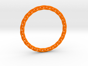 Bracelet twisted in Orange Strong & Flexible Polished