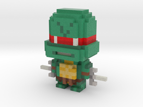 """Raph"" Voxel Figurine in Full Color Sandstone"