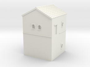 Roman Turret A (6mm Hadrian Wall Series) in White Natural Versatile Plastic
