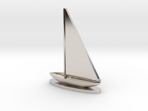 Sailboat in Rhodium Plated Brass