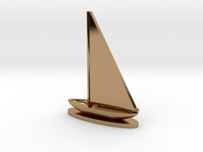 Sailboat in Polished Brass