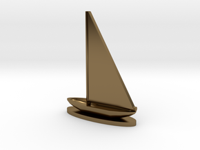 Sailboat in Polished Bronze