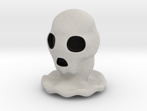 Halloween Character Hollowed Figurine: SkullGhosty in Full Color Sandstone