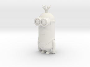 Minion Kevin in White Natural Versatile Plastic