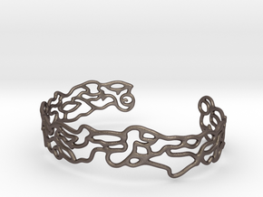 Cuff abstract #2  in Polished Bronzed Silver Steel