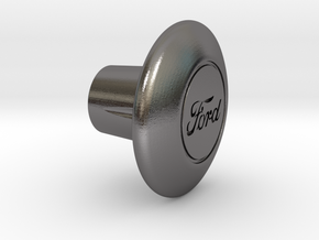 Shooter Rod Knob - Car in Polished Nickel Steel