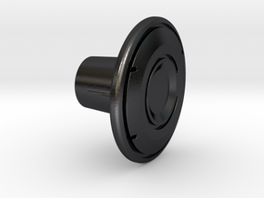 Shooter Rod Knob - Identity Disc - 2 in Polished and Bronzed Black Steel