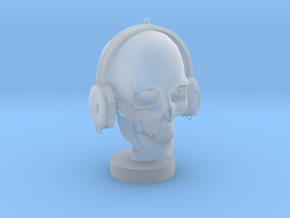 Skull DJ in Smooth Fine Detail Plastic