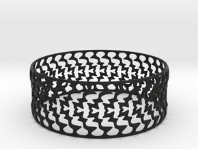 Bracelet 'Lightning' in Black Natural Versatile Plastic