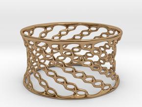 Fashion Bracelet 'Chains' in Polished Brass