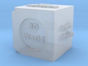 Cube of 3D Artist in Smooth Fine Detail Plastic