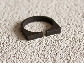 """Snulla"" Ring - Size Medium in Matte Black Steel"