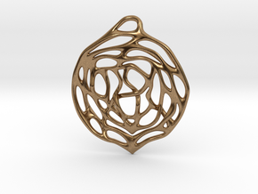 Concentric Circles Pendant in Natural Brass