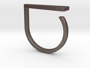 Adjustable ring. Basic model 9. in Polished Bronzed Silver Steel