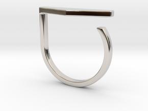 Adjustable ring. Basic model 11. in Rhodium Plated Brass