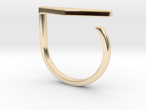 Adjustable ring. Basic model 11. in 14K Yellow Gold