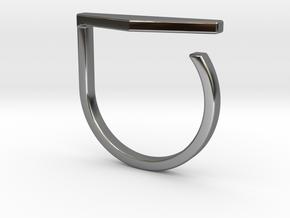 Adjustable ring. Basic model 11. in Fine Detail Polished Silver