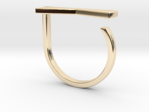 Adjustable ring. Basic model 12. in 14K Yellow Gold
